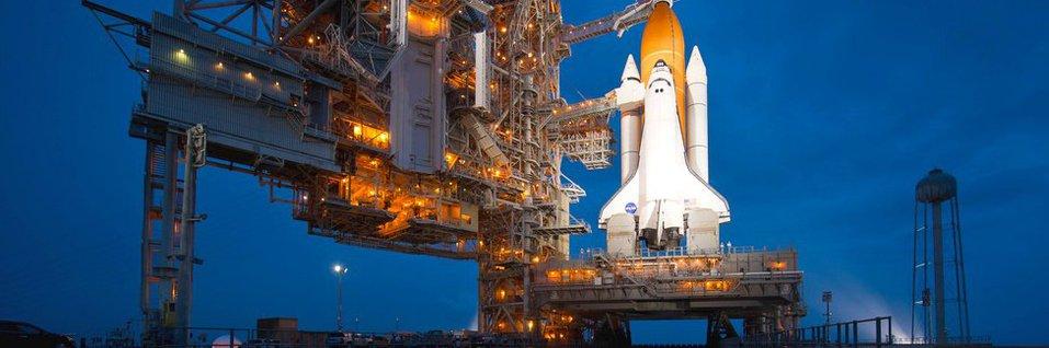 Prom kosmiczny Atlantis przed ostatnią misją STS-135 w 2011 roku