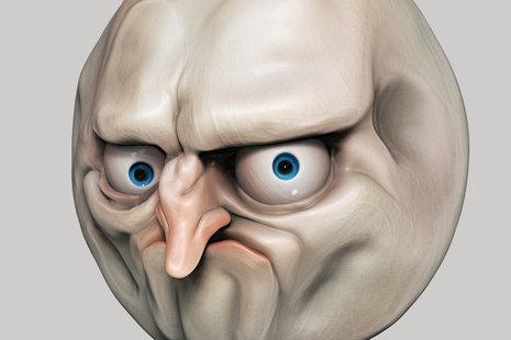 Zdjęcie [url=http://www.shutterstock.com/pic-227622991/stock-photo-internet-meme-no-rage-face-illustration-isolated.html]rage face'a[/url] pochodzi z serwisu shutterstock.com.