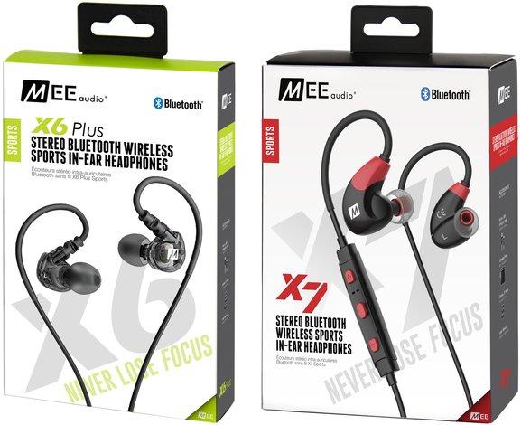 MEE Audio X6 Plus i X7: wodoodporne sportowe słuchawki
